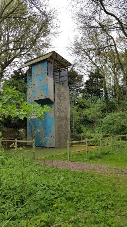 The abseil tower