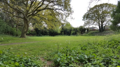 The top field, suitable for camping and great as a seperate games and activities area